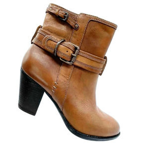 Sofft Wyoming Casual Heeled Ankle Boots Ebano Brown Size 7.5